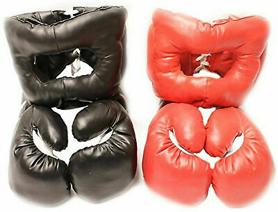 2 Pairs Boxing Gloves & 2 Sets of Head Gears Brand