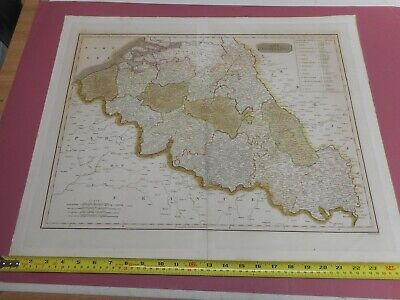 100% Original Large The Netherlands Map By Thomson Moffat  C1814