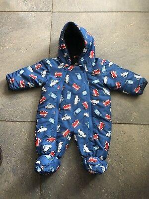 Frugi All In One Coat Boys 0-3 Months Snowsuit