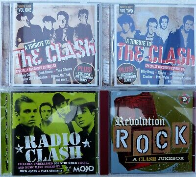 The Clash - A Tribute to ~Volumes 1 & 2, Radio Clash, Revolution Rock 4CD bundle