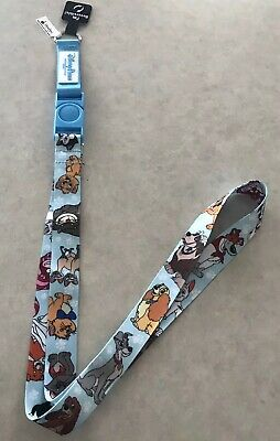 Disney Parks Dog and Cats of Disney Reversible Lanyard Marie Pluto Lady Tramp