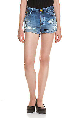 Damen Jeans Shorts Hot Pants Ripped Bermuda Hose Destroyed Risse Löcher Used Clothing, Shoes & Accessories