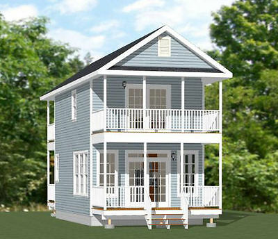 16x28 Home -- 8:12 Roof Pitch -- PDF Floor Plan -- 810 sq ft -- Model 3A