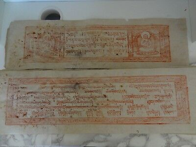 ANTIQUE MONGOLIAN TIBETAN BUDDHIST LARGE WOODBLOCK COMPLETE  MANUSCRIPT rare