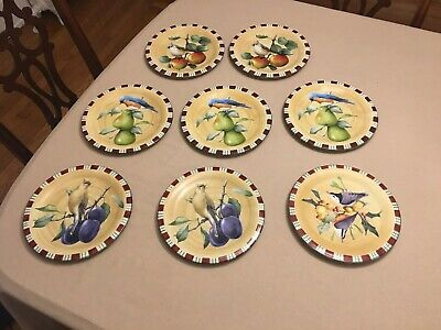 "Set of 8 Lenox Winter Greetings Everyday 8 1/2"" Salad Dessert Plates Assorted"