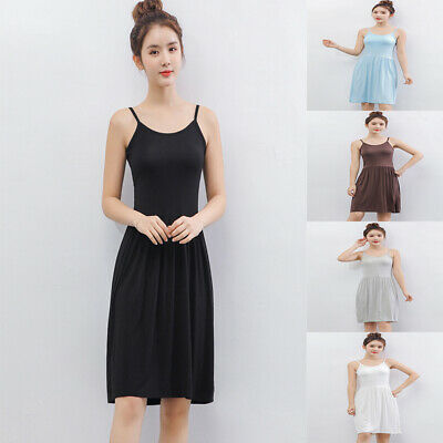 46c995f2451 US Womens Summer Cotton Vest Sleeveless Sundress Beach Loose Dress Tank Top  Size