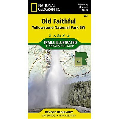 National Geographic Old Faithful Yellowstone Park SW Trails Illus Topo Map #302