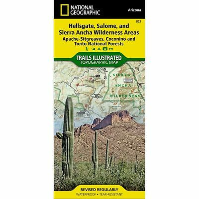 National Geographic Hellsgate Salome Trails Illus Topographic Map - AZ - #852