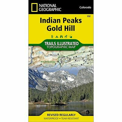 National Geographic Indian Peaks / Gold Hill Trails Illus Topo Map - CO - #102
