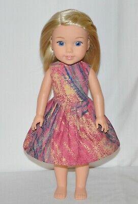 Painters Splash Dress Fits American Girl Wellie Wisher Doll Clothes