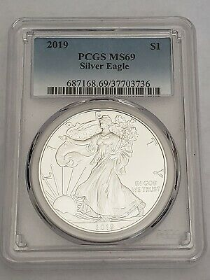 2019 American Silver Eagle graded MS69 by PCGS! US Mint Sold Out of 2019 Eagles