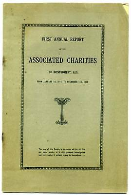 "1914 Montgomery Alabama ""United Way,"" EARLY UNIFIED CHARITY GIVING, philanthropy"