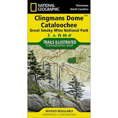 National Geographic Clingmans Dome Cataloochee Trails Illus Topo Map - #317