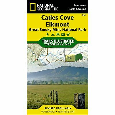 National Geographic Cades Cove Elkmont Trails Illus Topo Map - NC/TN - Map #316
