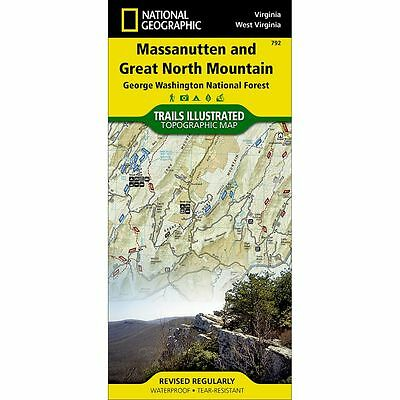 National Geographic Massanutten & Great North Mountain Trails Illus Topo Map 792