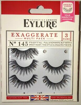 fec862b16c3 MULTI-PACK 3 PAIRS) Eylure Naturalites #020 False Eyelashes Fake ...