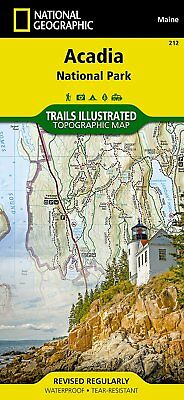 National Geographic Acadia National Park Trails Illus Topo Map #212 - ME