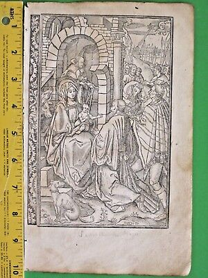 Rare BoH leaf,Miniature,Adoration of the Magi, Border scenes,etc.ca.1515