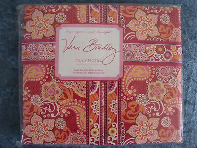 VERA BRADLEY Duly Noted Take Note Collection Desk Set~Raspberry Fizz~NEW!!!
