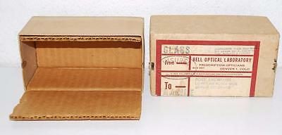 Vintage Bell Optical Lab Prescription BOX ONLY Denver Colorado military glasses