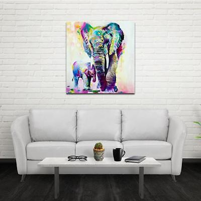 Animal Elephant Oil Painting Modern Abstract Wall Art Pictures Home Decor KV