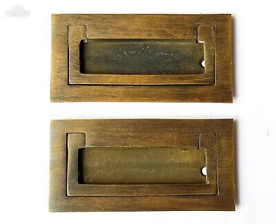 2 Antique Style/Modern Inset Flush Lift Mount TRUNK Drawer Chest PULL Handle P21