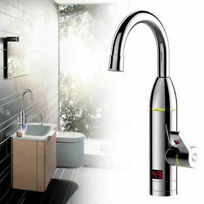 New LED Electric Heater Faucet Tap Hot Water Instant Home Bathroom Kitchen 3000W