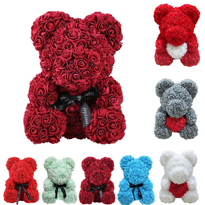 Rose Flower Bear Toys Teddy Birthday Valentine Wedding 5.12 Mother's Day Gift UK