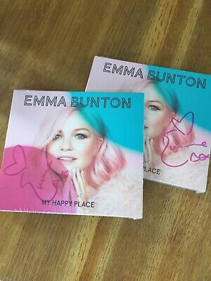 EMMA BUNTON  - MY HAPPY PLACE - * SIGNED * LIMITED EDITION CD ALBUM spice girls