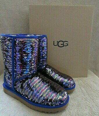 d367ead69e3 UGG AUSTRALIA CLASSIC Short Sequin Navy Women's Winter Boots 1094982 ...