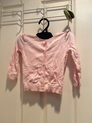 Country Road baby 100% cotton pink cardi 18-24 months