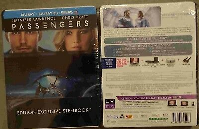 BLU RAY 3D+2D STEELBOOK PASSENGERS 2 Disques Chris Pratt Jennifer Lawrence NEUF