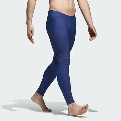 ee6cc0324f670 Adidas Alphaskin 360 Long Tight Pant Sz Small CD7137 Mystery Ink Blue $150