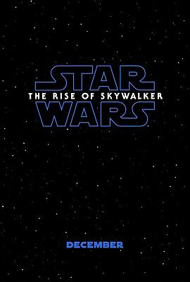 Star Wars The Rise of Skywalker Poster Episode IX Movie Teaser Print 27x40 24x36