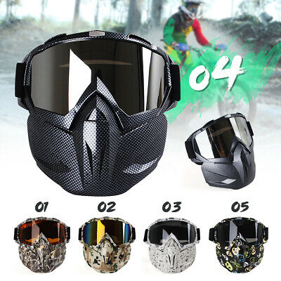 Hunting War Game Field Tactical Airsoft Paintball Full Face Mask PC Lens H022 AU