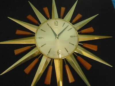 Vintage Starburst Wall Clock from Metamec 1960's