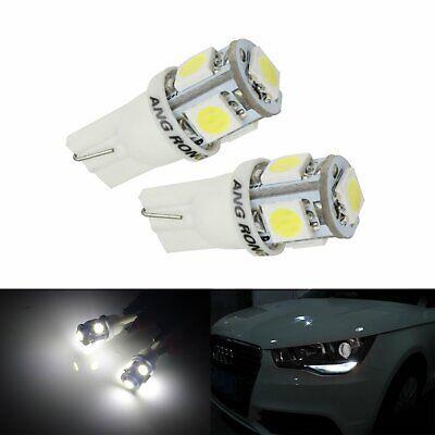 10x 5 SMD LED T10 W5W 501 Car Wedge Indicator Sidelight Light Bulb Xenon White