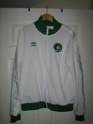 Mens Umbro New York Cosmos Soccer Football Green Tracksuit Jacket - Size Large