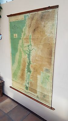 Antique, Bartholomew`s World Survey Map Series,Topo & Physical Map Of Palestine