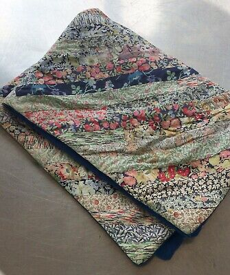 Cot coverlet, quilt made from antique printed cottons- Very attractive- Fresh