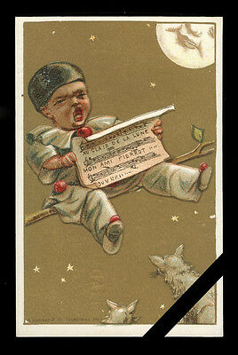 Vintage French Trade Card: Rare Original Antique Early 1900's Advertising