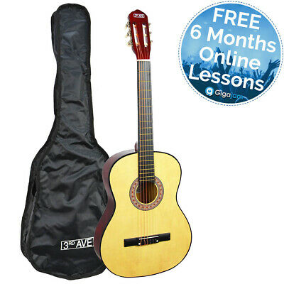 3rd Avenue Beginner 3/4 Size Classical Guitar with Free Bag