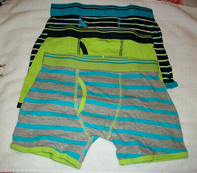 Three (3) Pairs Pants Striped & Plain Trunk Fit Boxer Shorts Briefs Age 7-8 New
