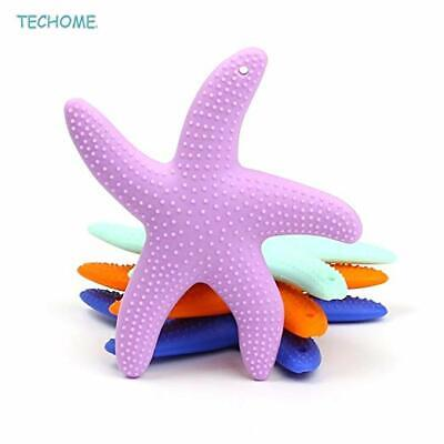 2Pcs/lot Baby Toothbrush Starfish Shaped Silicone Baby Teether Infant Chewing