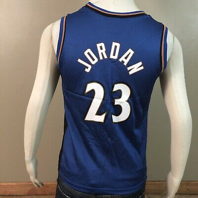 f7ade3545af Vintage CHAMPION MICHAEL JORDAN  23 Washington WIZARDS Jersey Sz M 10-12  Youth
