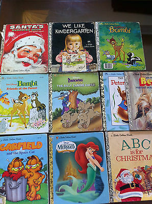 Mixed lot of 10 little golden books, vintage new assorted titles copyrights