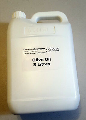 5L Olive Oil Australian Light Coloured for soap-making white castile soap AU