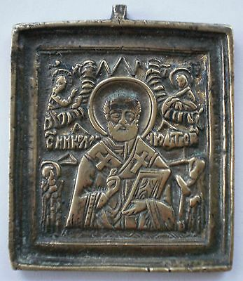 Russian Icon St. Nicolas the Miracle-Worker Wonderworker ~ 19th Century