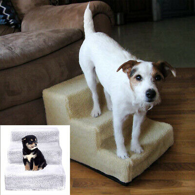 Portable Pet Gear Easy Step 3 Steps Dog Cat Stairs Ladder for Couch High Bed USA