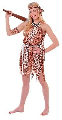 Caveman Jungle Flinstones Cave Stag Night Adults Mens Fancy Dress Costume